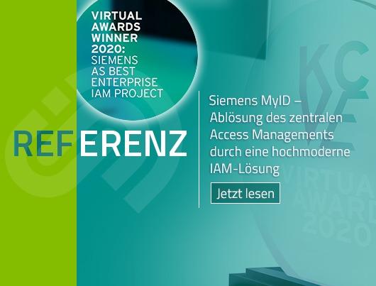 Referenz Story: Siemens MyID - Ablösung des zentralen Access Managements durch eine hochmoderne IAM Lösung