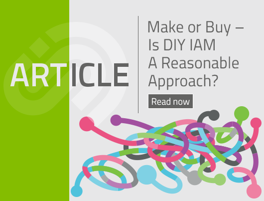 Article: Make or Buy ­- Is DIY IAM A Reasonable Approach?